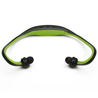 Stereo Sport Headset Headphone MP3 Music Player Micro SD TF Slot Green
