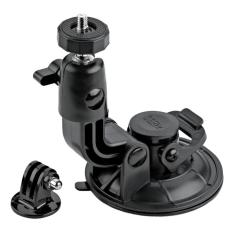 Suction Cup 9 CM with Tripod Mount & Knob Screw for GOPRO, BRICA B-PRO & Xiaomi Yi Camera - Hitam