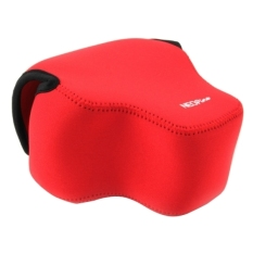 SUNSKY NEOpine Neoprene Shockproof Soft Case Bag with Hook For Panasonic FZ1000 Camera (Red)