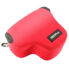 SUNSKY NEOpine Neoprene Shockproof Soft Case Bag With Hook ForCanon PowerShot G3X Camera (Red)
