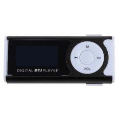 Supercart Mini Clip LCD Screen MP3 Music Player with Flashlight Black (Intl)