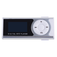 Supercart Mini Clip LCD Screen MP3 Music Player with Flashlight Silver (Intl)
