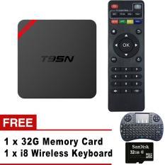 T95N Mini MX + Android 6.0.1 Smart TV Box Quad Core Amlogic S905X Kodi 16.0 TV Receiver WiFi 4K Streaming Media Player 1G + 8G - Intl
