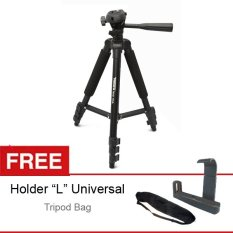 Takara Tripod Eco-173a, Free Holder L Medium dan Tas Tripod