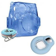Takashi Blue Crystal Protective Case + Blue Selfie Close-up Lens For Fujifilm Instax Mini 8 Instant Camera - Intl