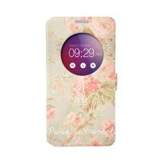 Taoyi A sus Zenfone 2 ZE500L 5.5inch Cartoon intelligent painting PU leather flip wallet cover case/Flower Elfi Tower - intl