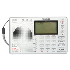 TECSUN PL-380 DSP PLL FM MW SW LW Digital Stereo Radio World Band Receiver New Silver
