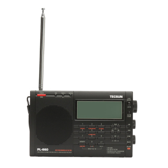 TECSUN PL-660 Digital Tuning Stereo AM FM SW Radio AIR SSB PLL Receiver Player (Black) - Intl