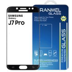 Tempered Glass Ranmel For Samsung Galaxy J7 Pro Full - Anti Gores - Hitam