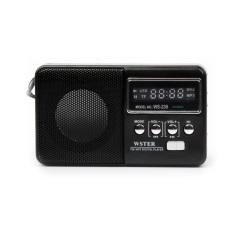 The Aged Best Mini Digital FM Radio MP3 With USB SD Card Built-in Speaker WS-239 New Fashion Portable Mini FM Radio Speaker - Intl