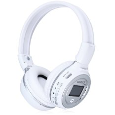TimeZone Zealot B570 LED Display Screen Wireless Stereo Bluetooth V4.0 Noise Canceling Headphones With FM Radio TF Card Slot (White) - Intl