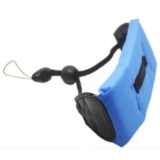 Titanium Waterproof Floating Hand Strap For Camera GoPro / Xiaomi Yi - Biru