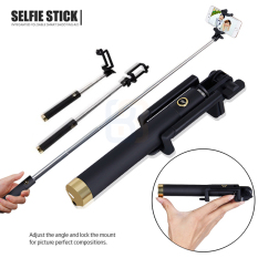 Tongsis Monopod Kabel/ Selfie Stick 3Generations- Gold