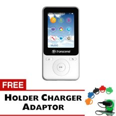 Transcend MP3 Fitness Recorder Player MP71.8GB - Putih + Gratis Holder Charger Adaptor