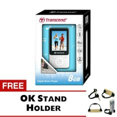 Transcend MP3 Fitness Recorder Player MP71.8GB - Putih + Gratis Trend's OK Stand Holder Smartphone