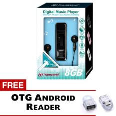 Transcend MP3 Player MP33.8GB - Hitam + Gratis Trend's OTG Reader Android