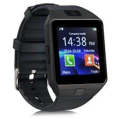 U Watch U9 Smartwatch DZ09 Sim Card Micro SD Android - Strap Karet - Hitam