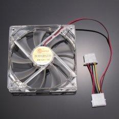 UINN Quad 4 LED Light 120mm PC Computer Case Cooling Fan Mod Easy Installed Fan 12V