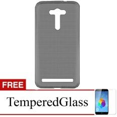 "Ultra Thin for Asus Zenfone 2 Laser 5.5"" ZE550KL - Abu Abu Transparan + Free"