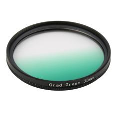 Universal 58m Filters Circle Mirror Lens Gradient UV For DSLR Camera Lens (Green)