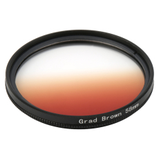 Universal 58mm Filters Circo Mirror Lens Gradient UV For DSLR Camera Lens (Brown)