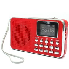 Universal Mini Portable Home Digital Stereo Speaker Radio TF Card FM Radio MP3 (Red)