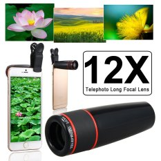 Unviersal 12X Zoom Phone Telephoto Camera Lens With Clip For Smartphone -Intl