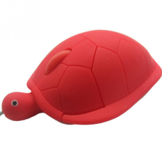 USB 2.0 1200dpi 3D Wired Optical Cute Turtle Mice Mouse For PC Laptop (Red)