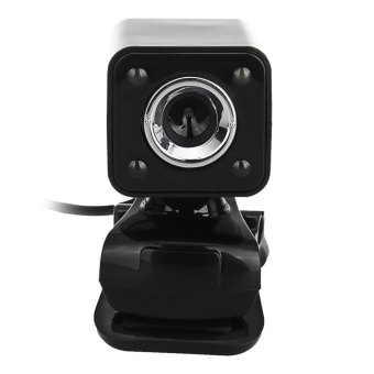 USB 2.0 5.0MP LED HD Webcam Web Camera Cam MIC For PC Laptop (Black)