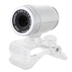 USB 50.0 Mega Pixel HD Webcam Web Camera with Mic For Laptop Desktop PC Grey