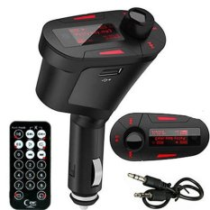USB SD MMC Remote Control Car Kit MP3 Music Player Wireless FM Transmitter Radio Modulator (Red) (Intl)