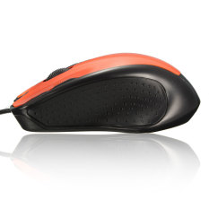 Audew USB Wired 1800 DPI Optical Gaming Mouse Mice For PC Computer Laptop Desktop Orange (INTL)