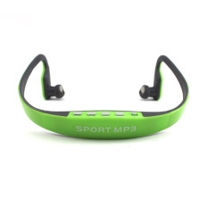 Sport Wireless Earphones MP3 Player TF Card FM Radio Headset (Green)