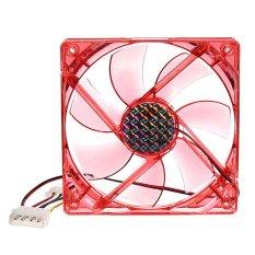 Ventilateur CPU Fan LED Rouge Refroidisseur 120mm Ordinateur Silencieux 4Broches- Intl