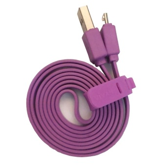 Vivan Cable Micro USB Pipih For Android - Ungu