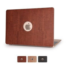 Vivid Wood Leather Skin Hard Cover for Macbook Pro 13.3 with Retina Display - Brown - intl