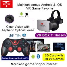 VR Box T +T3+SDv02 3D VR Cardboard 2 with Capacitive Touch, Gamepad T3 & 8G Game