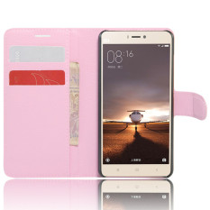 Wallet Flip Leather Case cover For Xiaomi Redmi 3S/Xiaomi Redmi 3 Pro (pink