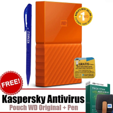 WD My Passport New Design 1TB/2.5Inch/USB3.0 - Orange+Free Kaspersky+Pouch+Pen