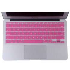 Welink Fashion Silicone US Keyboard Cover Waterproof Keyboard Protector Skin For Apple Macbook Air 11 Inch (Pink) (Intl)