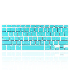 Welink Fashion Silicone US Keyboard Cover Waterproof Keyboard Protector Skin For Apple Macbook Air 13 Inch, Macbook Pro 13 Inch 15 Inch And Imac (Turquoise)