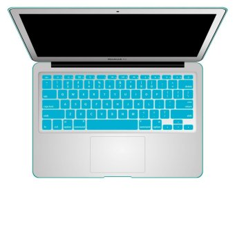 Welink Fashion Silicone US Keyboard Cover Waterproof KeyboardProtector Skin For Apple Macbook Air 11 Inch (Aqua)