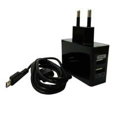Wellcomm Dual USB Travel Charger 2.1A High Quality - Hitam