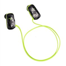 Wireless Bluetooth 4.0 Stereo Earbuds Headphone Sport Headset Earphone Handfree Universal (Green / Black)