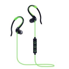 Wireless Bluetooth CSR V4.1 Headphones Ear Hook Stereo Earphones Super Bass Headset Sport Running Handsfree With Mic (Green) - Intl