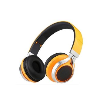 Wireless Bluetooth Headsets With Microphone (Orange)