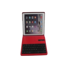 Wireless Bluetooth Keyboard Stand Case Cover Pu Leather For Apple Ipad Air 2 Red