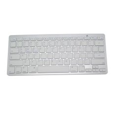 Wireless Multimedia Bluetooth Keyboard BCM20730 For IPhone Apple, Android Phone, Windows PC - Putih
