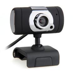 WiseBuy Usb Webcam Kamera Web Cam Mikrofon Untuk PC Desktop Laptop Hitam