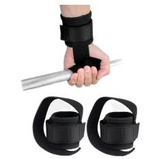 Wrist Support Training Weight Lifting Straps Hand Bar (Black) - Intl